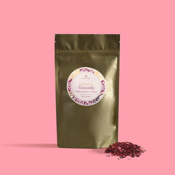 Infusion hibiscus pomme