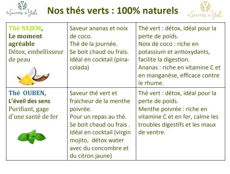 Thés verts 100% naturels - NEJEM - OUBEN