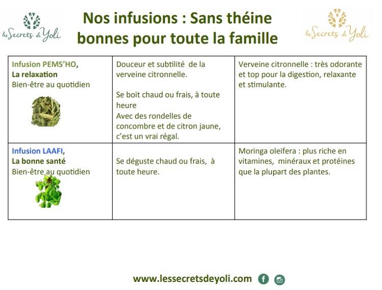 Infusion sans théine -LAAFI - PEMS'HO